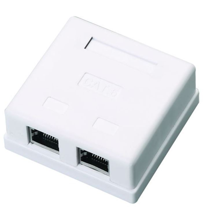 CAT6 RJ45 Wall Outlet UnShielded Faceplate